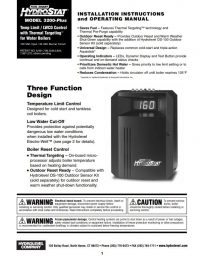 HydroStat 3200 Plus Installation Sheet