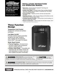 HydroStat 3250 Plus Installation Sheet