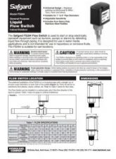 Safgard FS204 Installation Sheet