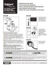 Safgard 1100 Installation Manual