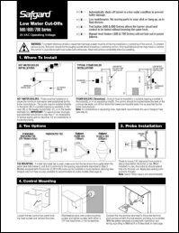 Safgard 500/600/700 Series Installation Sheet