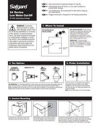 Safgard 24 Series LWCO Installation Manual