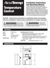AcuTemp Installation Manual