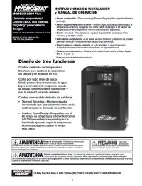HydroStat 3200 Plus Installation Sheet (Spanish Translation)