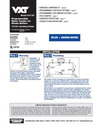 Model VXT-120 Installation Sheet