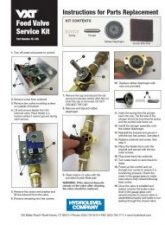 VXT Feed Valve Service Kit - Instructions