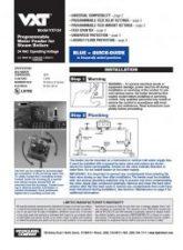Model VXT-24 Installation Sheet
